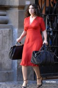"Monica Bellucci on the set of �Manuale D�amore 3"" in Rome 10/6/10"