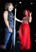 Rihanna performing with Bon Jovi @ Teatro Circo Price in Madrid - November 5, 2010