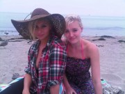 Aly & A.J. Michalka on the Beach Twitpic 9/28/11